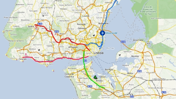 mapa de lisboa e arredores Vai morar em Lisboa e não sabe por onde começar? – Banho de chuva mapa de lisboa e arredores