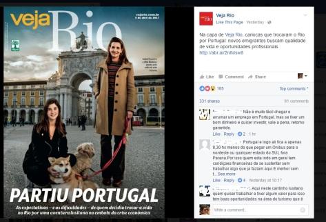 Capa veja Rio - Partiu Portugal