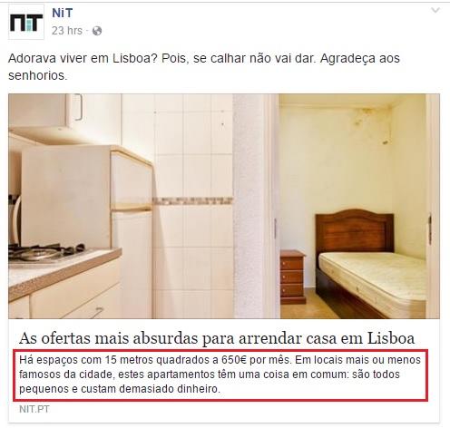 NIT arrendamento Lisboa